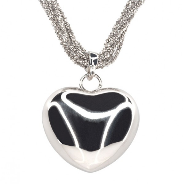 ITALIAN JEWELRY-NECKLACE WITH HEART PENDANT